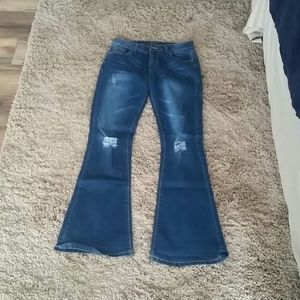 High-waisted, flare Bottom Jeans